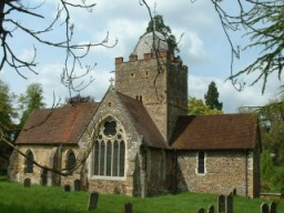 Saxon church of St Peter and St Paul in Albury